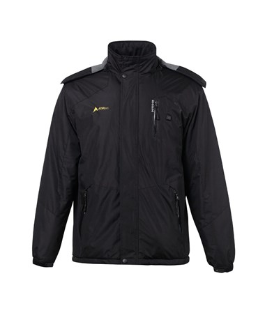 AdirPro Small Black Hooded Heated Jacket ADI781-BLK