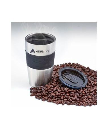 AdirChef 15 Oz. All Stainless Steel Travel Mug, Black ADI800-01-MUG