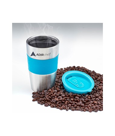 AdirChef 15 Oz. All Stainless Steel Travel Mug, Crystal Blue ADI800-01-CRB-MUG
