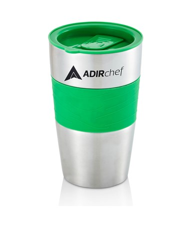 AdirChef 15 Oz. All Stainless Steel Travel Mug, Green ADI800-01-GRN-MUG