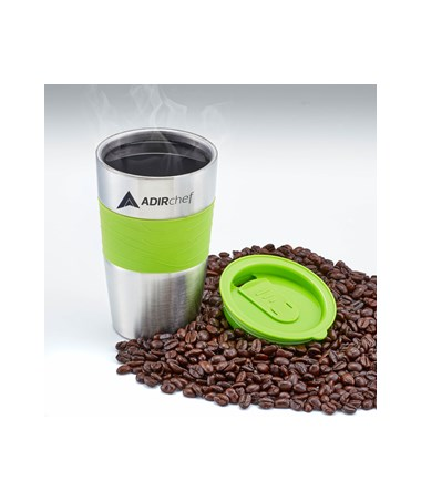 AdirChef 15 Oz. All Stainless Steel Travel Mug, Sour Green ADI800-01-SGR-MUG