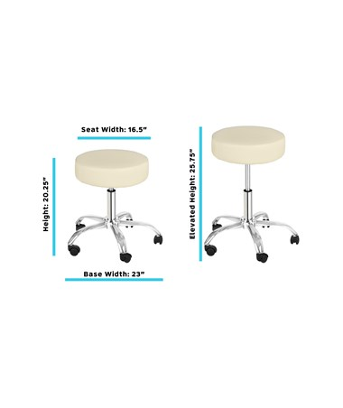 AdirMed Lux Height-Adjustable Stool Beige 910-01-BEG