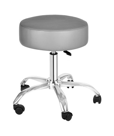 AdirMed Lux Height-Adjustable Stool Gray 910-01-GRY