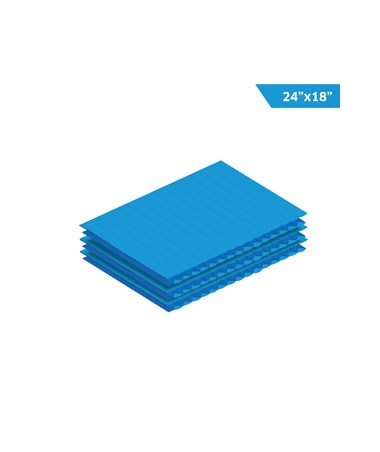 AdirOffice Corrugated Plastic Sheet - Blue