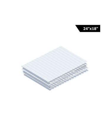 AdirOffice Corrugated Plastic Sheet - White
