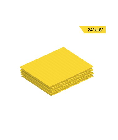 AdirOffice Corrugated Plastic Sheet - Yellow