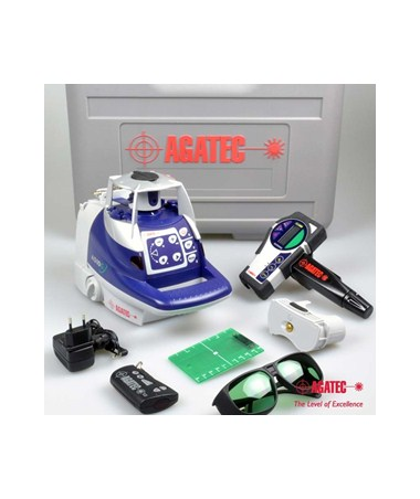 Agatec A510G Green Beam Rotary Laser Level Kit