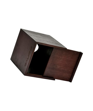 "Alpine Wooden Tissue Box Holder with Espresso Finish, 6.25"" H x 5.5"" W x 5.5"" D ALP405-ESP"