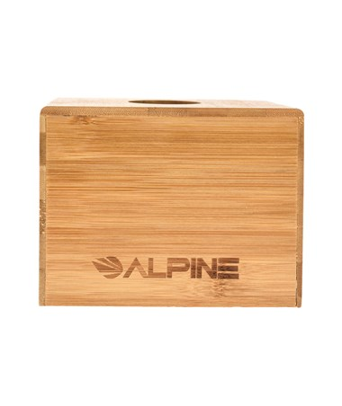 "Alpine Wooden Tissue Box Holder with Natural Wood Finish, 4.5"" H x 10.5"" W x 6"" D ALP406-BMB"