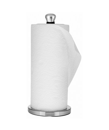 Alpine 433-05 Pewter Perfect Paper Towel Holder Round Top