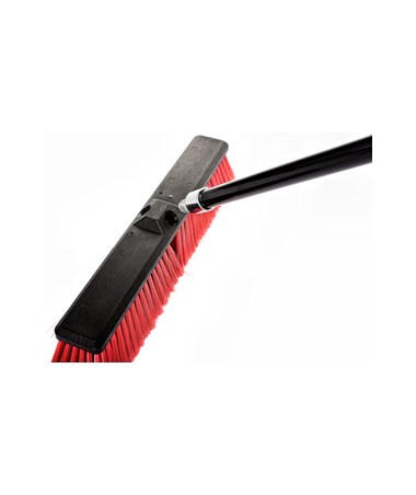 "Alpine 460-18-2-3 Smooth Surface Push Broom 18"" Black/Red, 3-Pack"