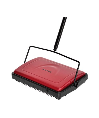 Alpine Triple Red Floor Brush and Carpet Sweeper ALP469-RED