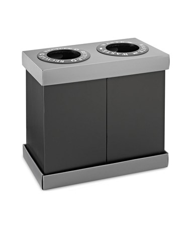 Alpine 28-Gallon Recycling Indoor Waste Bin ALP471-02-BLK-