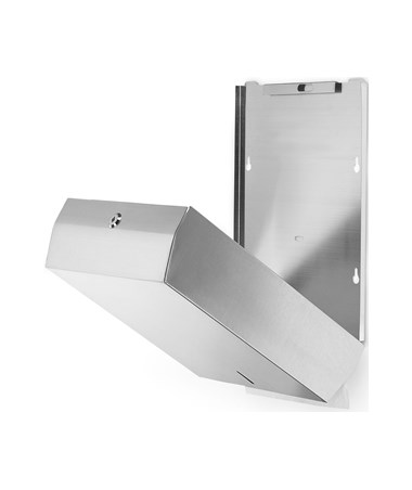 Alpine Stainless Steel C-Fold/Multifold Paper Towel Dispenser with 400 C-Fold/525-Multifold-Towel Capacity ALP480