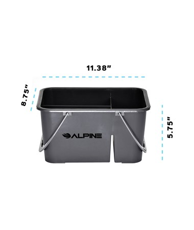 Alpine 4-Compartment Plastic Cleaning Caddy ALP486-4