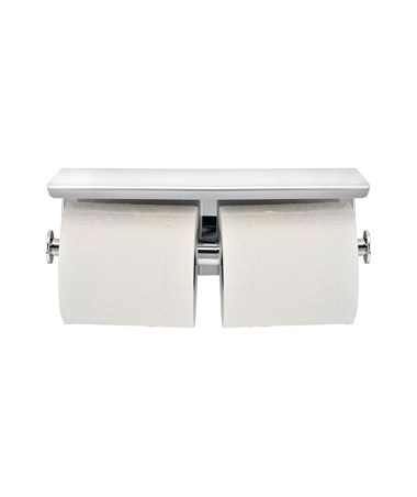 Alpine 487-1-B Toilet Paper Holder with Shelf Storage Rack