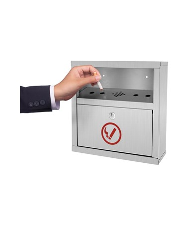 Alpine Quick Clean Stainless Steel Cigarette Disposal Bin ALP490-02-SS