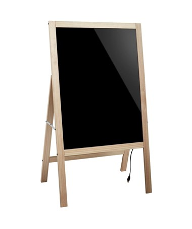 Alpine LED Illuminated Wooden Message Writing Board on A-Stand ALP491-02-