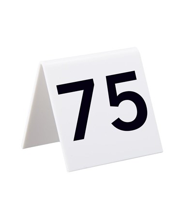 Alpine 3u201d W x 3u201d H White Table Number Tents (Qty. 25  sc 1 st  Tiger Supplies & Alpine Table Number Tents Tiger Supplies