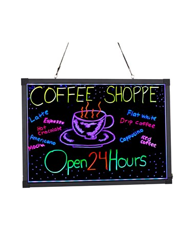 Alpine LED Illuminated Hanging Message Writing Board ALP495-01-