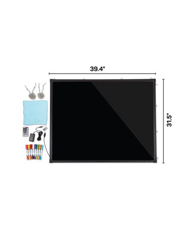 "Alpine LED Illuminated Hanging Message Writing Board, 32"" W x 40"" H ALP495-05"