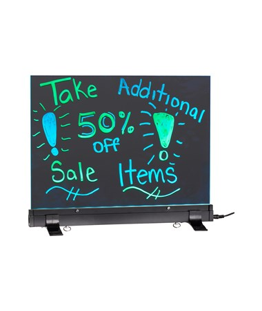 Alpine LED Flashing Message Board w/ Acrylic Writing Panel & Stand ALP496-01-