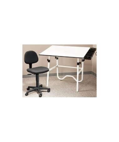 Alvin CC Series Creative Center Onyx Drafting Table with Chair ALV-CC2001A