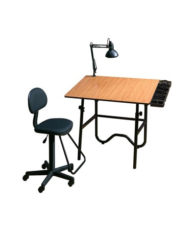 Alvin CC Series Creative Center Onyx Drafting Table with Chair ALVCC2001A3-