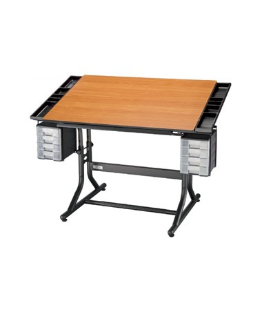 Alvin CraftMaster II Deluxe Art, Drawing, and Hobby Drafting Table ALVCM48-3-WBR
