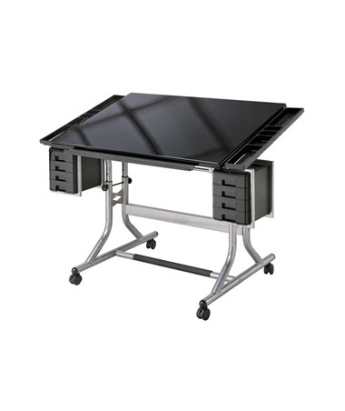 Alvin Craftmaster II Glass Top Deluxe Art and Drawing Table ALVCM48GL