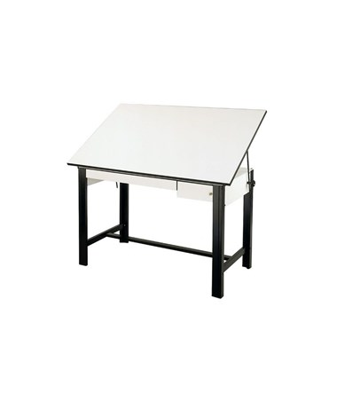 "Alvin 60""L DesignMaster Drafting Table with Drawers, Black Base DM60CT-BK"