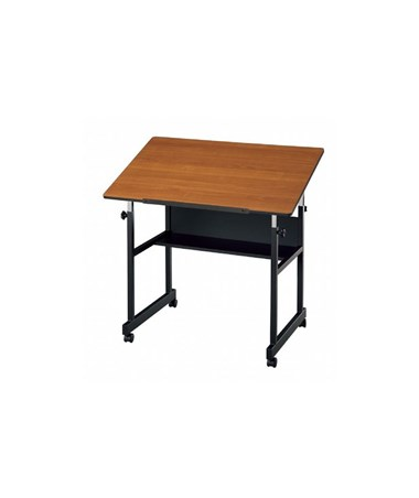 Alvin MiniMaster Cherry Top Black Base Drafting Table MM36-3-WBR