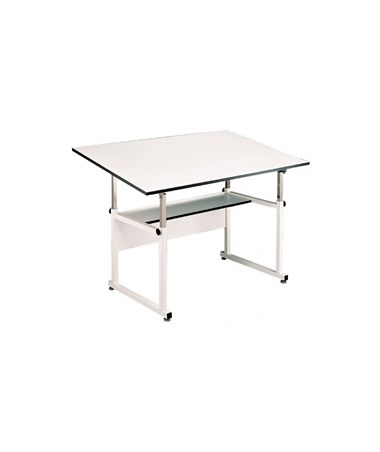 "Alvin 36""W x 48""L WorkMaster Drafting Table, White Base WM48-4-XB"