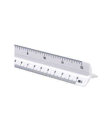 Alvin 110 Series 119PC High Impact Plastic Combination Triangular Scale ALV119PC