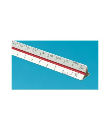 Alvin 40 Series Mini Hardwood Metric Triangular Scale ALV47MTS