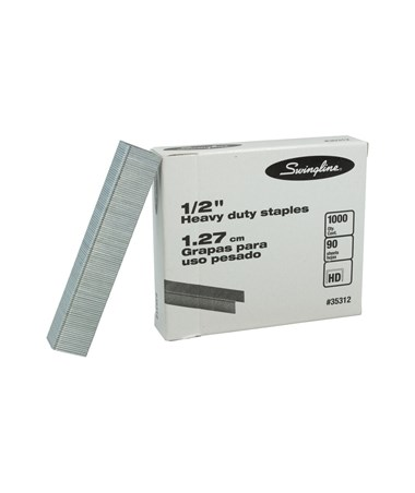 "Swingline ½""L (1.27 cm) Heavy-Duty Staples (1000 Staples/Box) A35312"