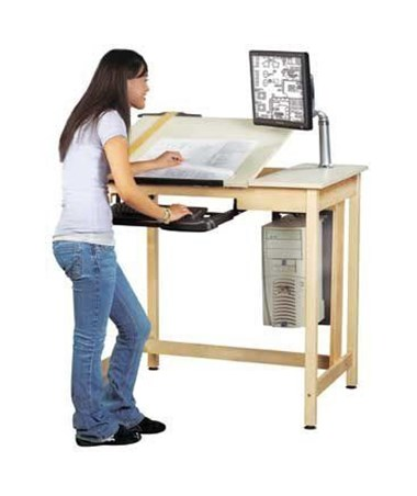 Alvin Shain Deluxe Drawing Table System ALVCDTC-70-