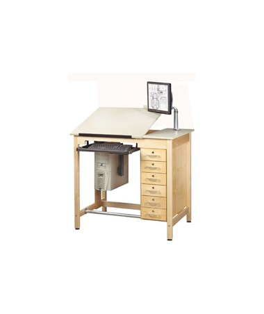 Alvin Shain Deluxe Drawing Table System, With 6 Drawers CDTC-71