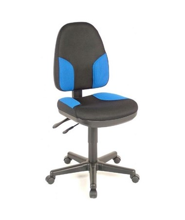 Alvin High Back Monarch Office Chair Black Fabric with Blue Highlights CH555-85