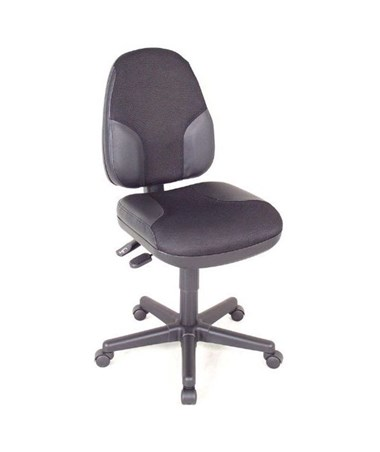 Alvin High Back Monarch Office Chair Black Fabric with Leather Accents CH555-95