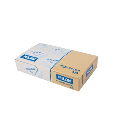 Milan Square Synthetic Rubber Eraser, 20-Pack CMM420