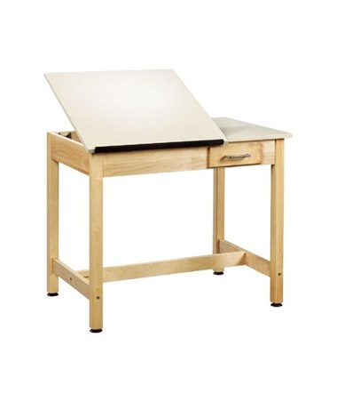 "Alvin 30""H Shain Two-Piece Drawing Table, With Small Drawer DT-2SA30"