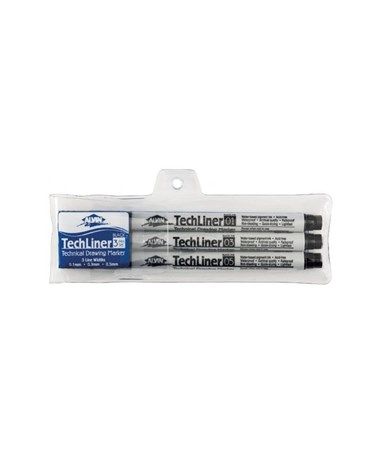 Alvin TechLiner Technical Drawing Marker Set ALVTLP3-