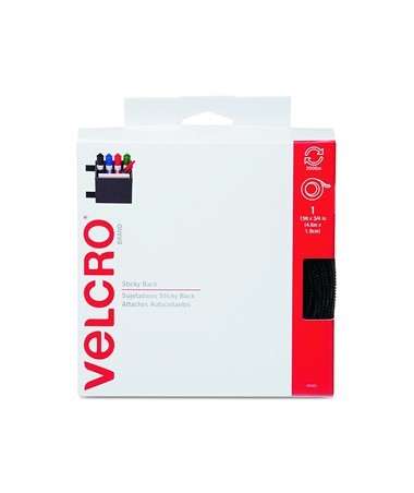 "Velcro Sticky Back Fastener Tape General Purpose (15'L x ¾""W) V90081"