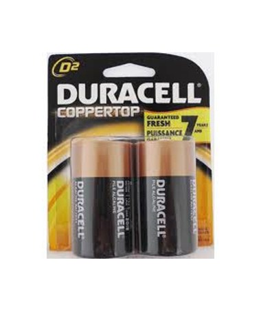 Duracell - D Batteries (2-Pack) BATD2DUR