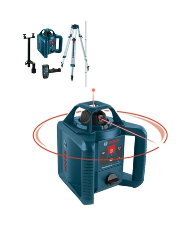 Bosch GRL 245 HVCK Self-Leveling Rotary Laser BOS0601061910