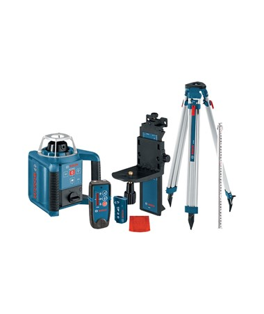 Bosch GRL 300 HVCK Self-Leveling Rotary Laser with Laser Receiver, Tripod and Grade Rod