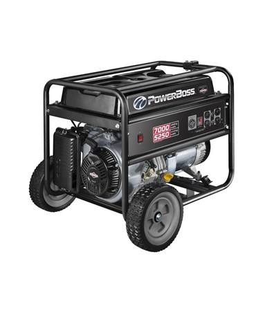 Briggs & Stratton PowerBoss 5,250 Watts Recoil Start Portable Generator w/ RV Outlet and Wheel Kit 30660