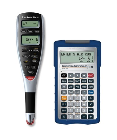 Calculated Industries 6135-4067 Scale Master Pro XE Digital Plan Measure w/ Master Plus EZ Calculator