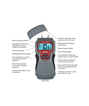 Calculated Industries AccuMaster XT Moisture Meter CAL7440